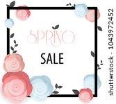 spring flower sale promotion...   Shutterstock .eps vector #1043972452