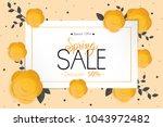 spring flower sale promotion...   Shutterstock .eps vector #1043972482