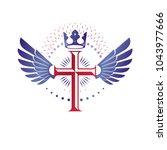 cross of christianity graphic... | Shutterstock .eps vector #1043977666