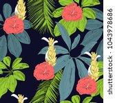 tropical seamless vector... | Shutterstock .eps vector #1043978686