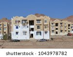 the small town of dahab on the... | Shutterstock . vector #1043978782