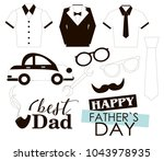 editable image greeting with... | Shutterstock .eps vector #1043978935