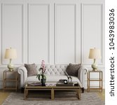 classic interior in pastel... | Shutterstock . vector #1043983036