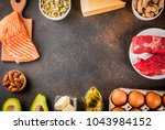 ketogenic low carbs diet... | Shutterstock . vector #1043984152
