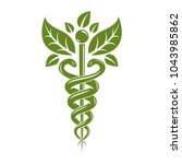 caduceus symbol  healthcare... | Shutterstock .eps vector #1043985862