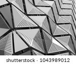 metal geometric angular... | Shutterstock . vector #1043989012