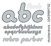 vector retro lowercase english...   Shutterstock .eps vector #1043989732
