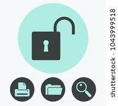 lock vector icon | Shutterstock .eps vector #1043999518