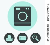 washing machine vector icon | Shutterstock .eps vector #1043999548