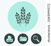 wheat spike vector icon | Shutterstock .eps vector #1043999572