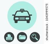 taxi car vector icon | Shutterstock .eps vector #1043999575