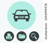 car vector icon | Shutterstock .eps vector #1043999578