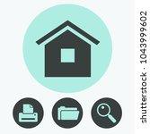 home vector icon | Shutterstock .eps vector #1043999602