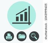 graph chart vector icon | Shutterstock .eps vector #1043999605