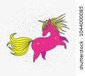 cute magical unicorn. hand...   Shutterstock .eps vector #1044000085
