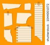 set of torn sheets  piece of... | Shutterstock .eps vector #1044001072