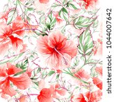 wildflower rose flower pattern... | Shutterstock . vector #1044007642