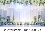 wedding flower decoration ... | Shutterstock . vector #1044008125