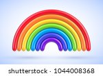 vector colorful rainbow arch | Shutterstock .eps vector #1044008368
