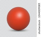 red pearl realistic isolated on ... | Shutterstock .eps vector #1044009085