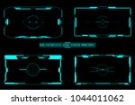 hud futuristic user screen... | Shutterstock .eps vector #1044011062