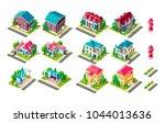 set vector isolated isometric... | Shutterstock .eps vector #1044013636