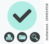 check mark vector icon | Shutterstock .eps vector #1044014518