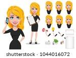 business woman cartoon...   Shutterstock .eps vector #1044016072