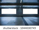mock up banners media light box ...   Shutterstock . vector #1044030745