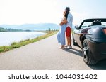 couple in love stands near the... | Shutterstock . vector #1044031402