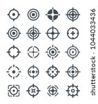 black target icons on the white ... | Shutterstock .eps vector #1044033436