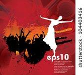 dancing people. vector...   Shutterstock .eps vector #104403416