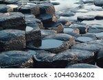 the giant's causeway antrim...   Shutterstock . vector #1044036202