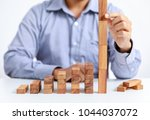 businessman and outstanding... | Shutterstock . vector #1044037072