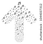 music pattern designed in the... | Shutterstock .eps vector #1044037312
