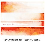set of watercolor hand painted... | Shutterstock . vector #104404058