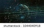 digital data earth | Shutterstock . vector #1044040918