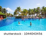 mexico  cancun   february 15 ... | Shutterstock . vector #1044043456