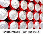 aluminium cans.cover aluminum... | Shutterstock . vector #1044051016