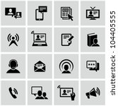 communication icons set. | Shutterstock .eps vector #104405555