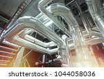 equipment  cables and piping as ... | Shutterstock . vector #1044058036