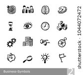 vector line icons set of... | Shutterstock .eps vector #1044072472