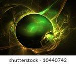Abstract Fractal Green Ball