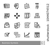 vector line icons set of... | Shutterstock .eps vector #1044074512