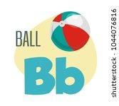 b letter  children's english... | Shutterstock .eps vector #1044076816