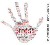 conceptual mental stress at... | Shutterstock . vector #1044080716