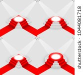 set of scene with red carpet ... | Shutterstock .eps vector #1044081718