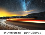 night landscape. night sky with ... | Shutterstock . vector #1044085918