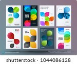 set of design brochure ... | Shutterstock .eps vector #1044086128