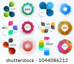 set of modern design abstract... | Shutterstock .eps vector #1044086212